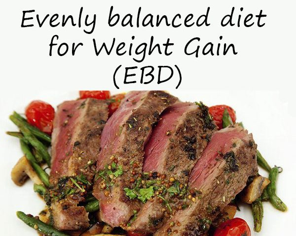 Evenly balanced diet - Strategy to increase muscle mass
