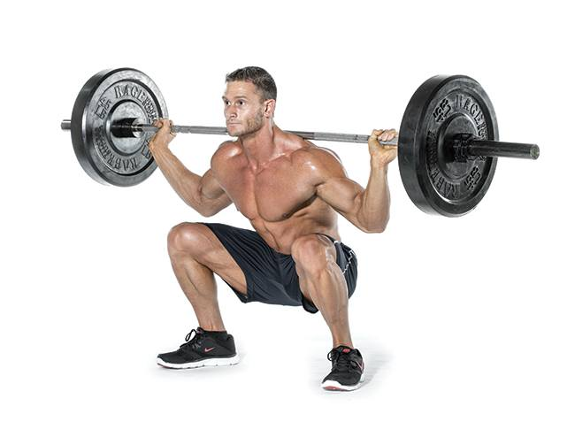 Barbell Squat behind neck for men
