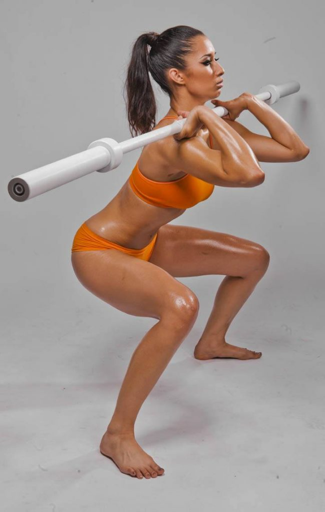 Front Barbell Squat for Women