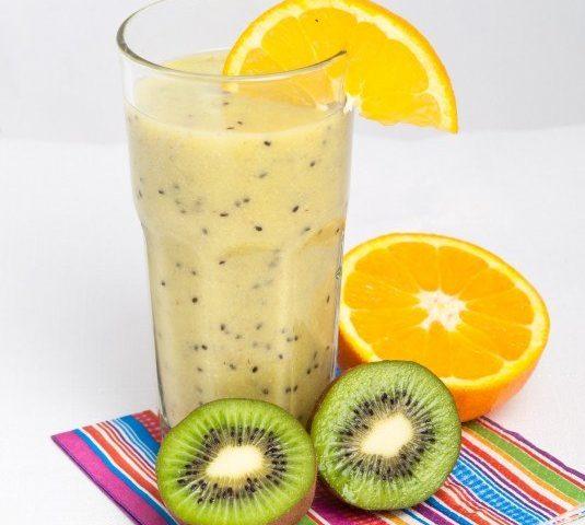 kiwi and wheat germ smoothie