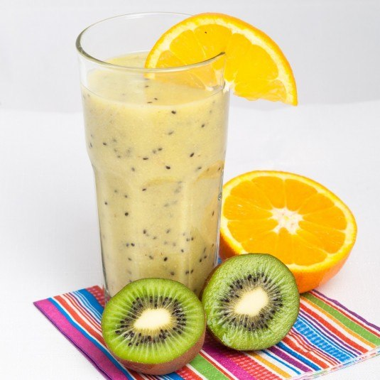 kiwi and wheat germ smoothie
