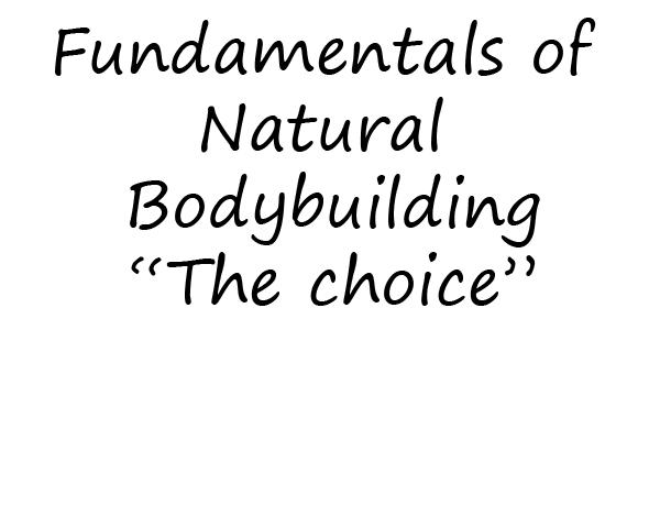 Fundamentals of Natural Bodybuilding